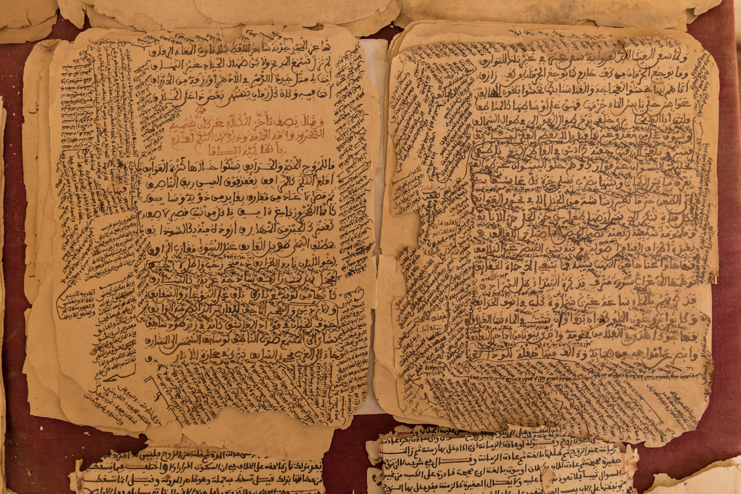 Mali, Timbuctù, atelier di calligrafia di Boubacar Sadek