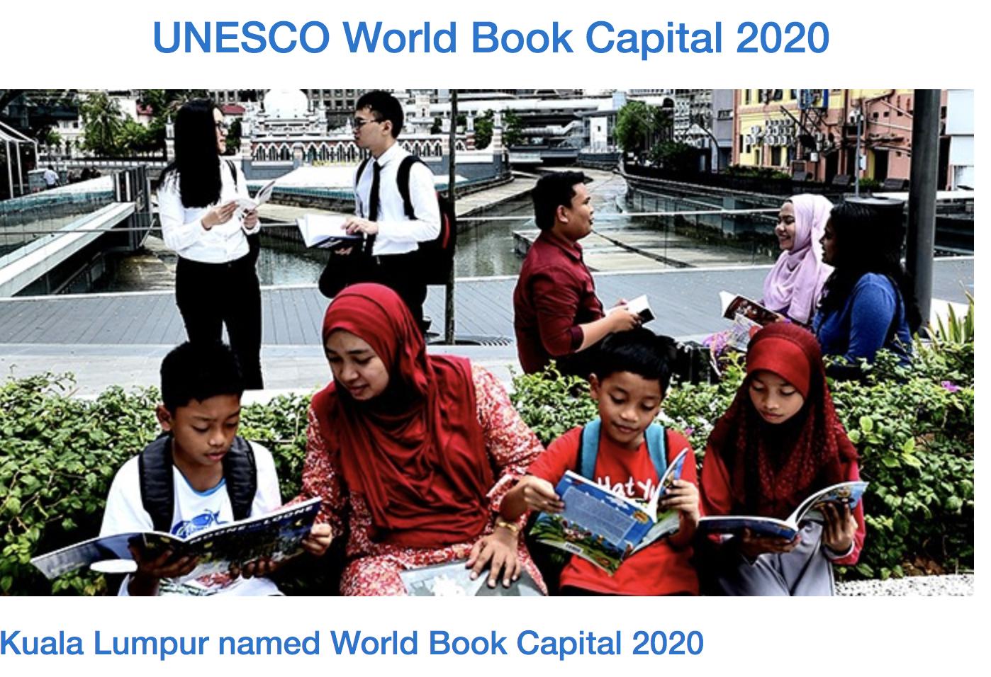 Kuala Lumpur named UNESCO World Book Capital 2020